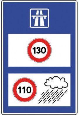 Panneau Rappel des limites de vitesse sur autoroute - C25b