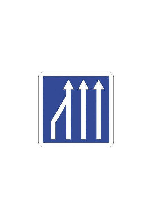 Panneau Réduction du nombre de voies... - C28_ex2