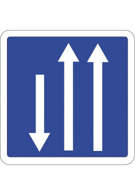 Panneau Présignalisation d'un créneau de dépassement...- C29b