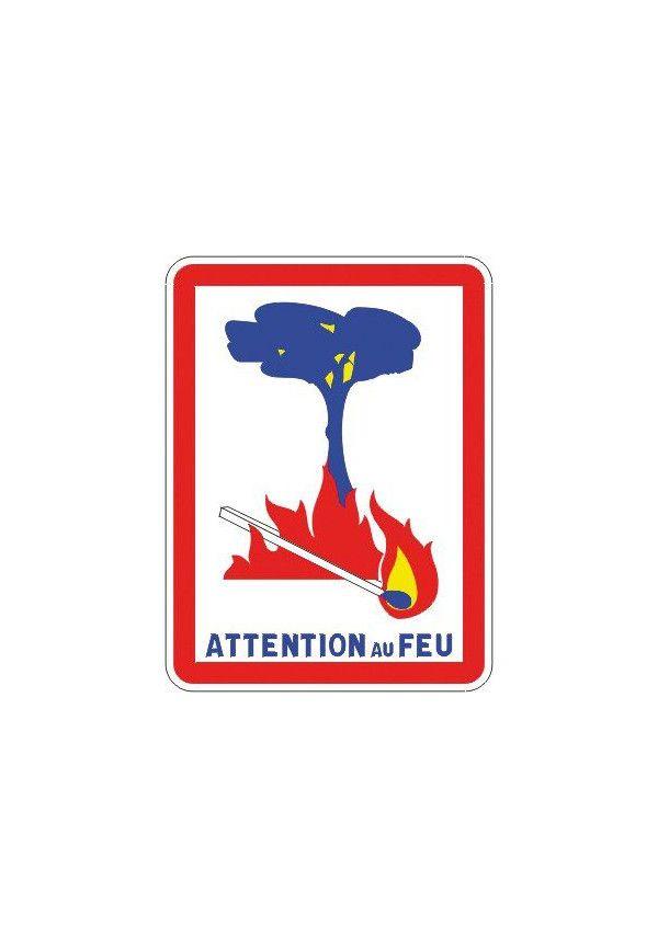 Panneau Attention au feu - C3