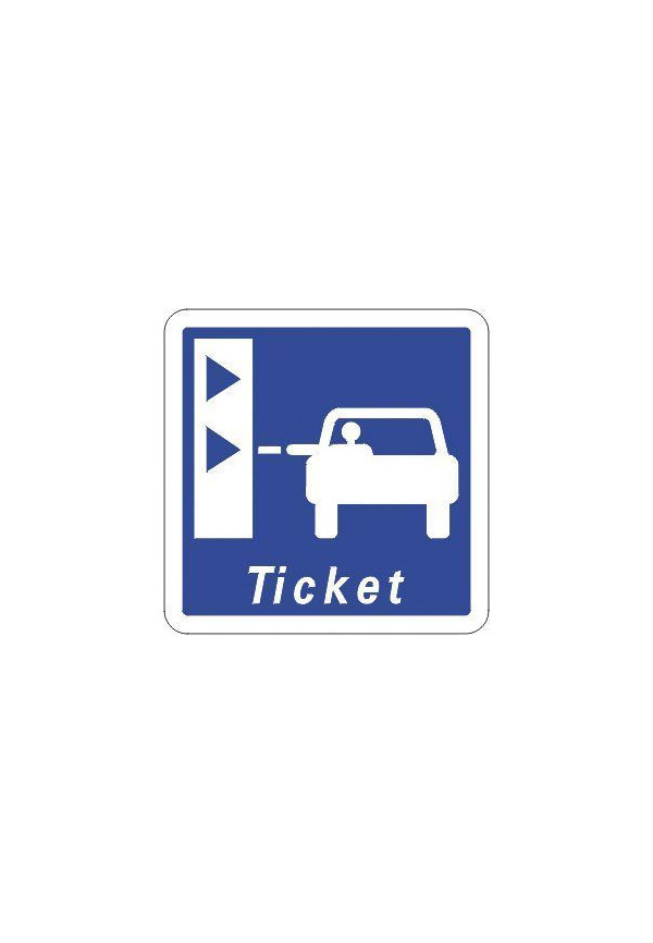 Panneau Borne de retrait de ticket de péage - C62