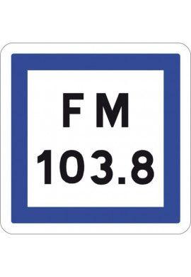 Panneau Fréquence d'émission d'une station... - CE22*