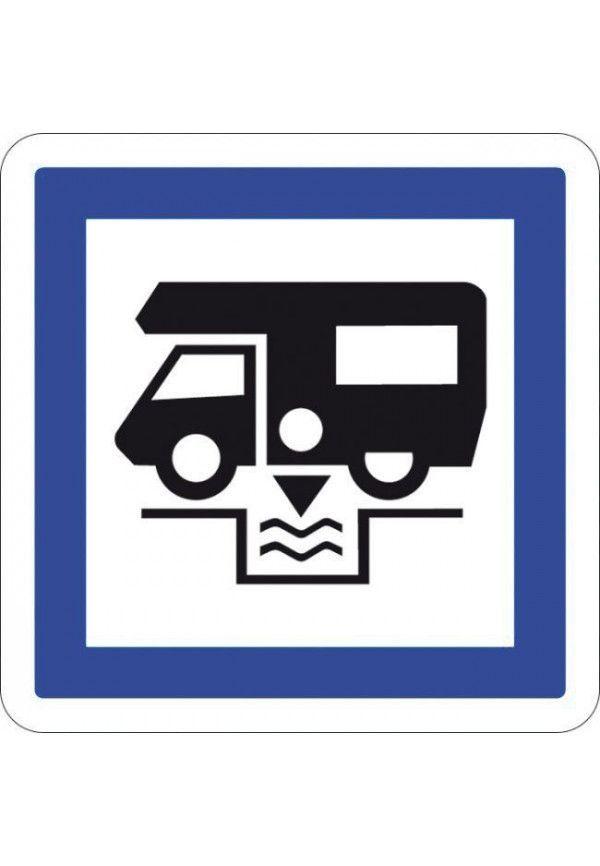 Panneau Station de vidange pour caravanes... - CE24
