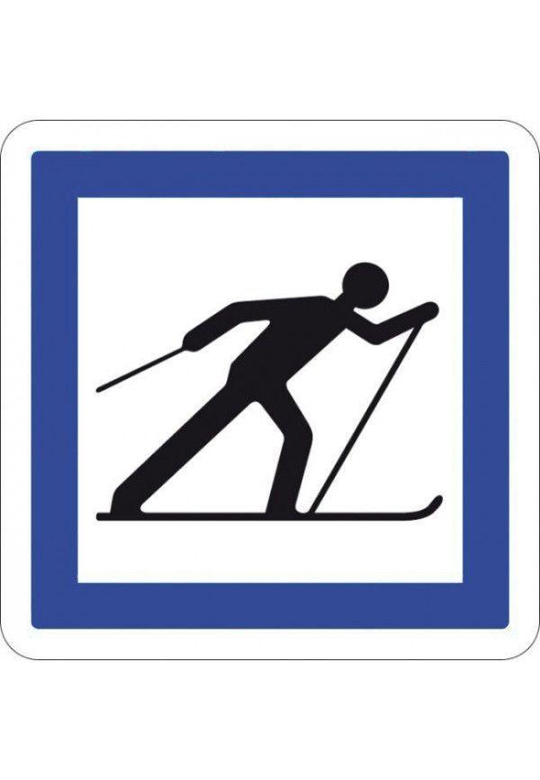 Panneau Circuit de ski de fond- CE6b