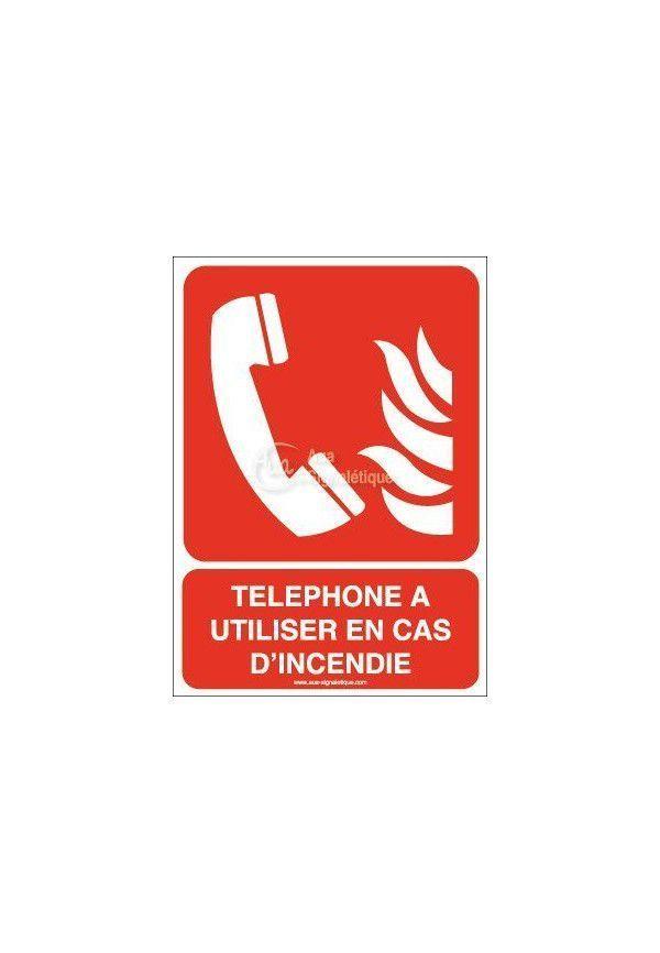 Téléphone à utiliser en cas d'incendie F006-AI