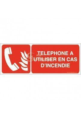 Téléphone à utiliser en cas d'incendie F006-B