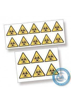 Pictogrammes adhésifs en planches. Pictogrammes Danger