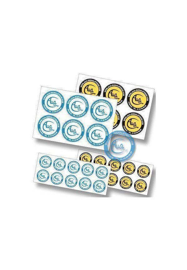 Pictogrammes adhésifs en planches. Votre Logo