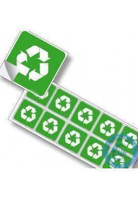 Pictogrammes adhésifs en planches. Pictogrammes Recyclage & Décheteries