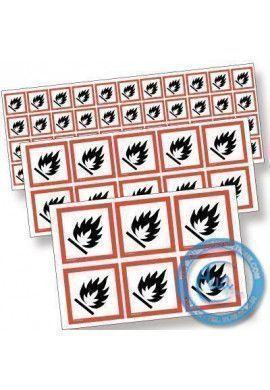 Pictogrammes adhésifs en planches. Pictogrammes SGH