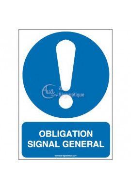 Obligation, signal général M001-AI Aluminium 3mm 150x210 mm