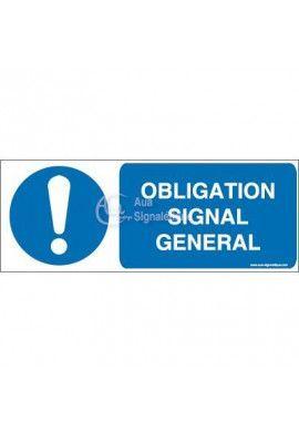 Obligation, signal général M001-B Aluminium 3mm 160x60 mm