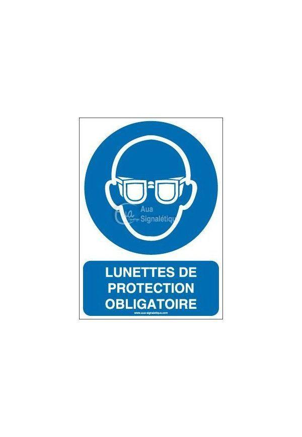Lunettes de protection obligatoires M004-AI Aluminium 3mm 150x210 mm