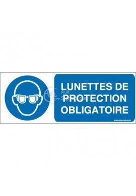 Lunettes de protection obligatoires M004-B Aluminium 3mm 160x60 mm