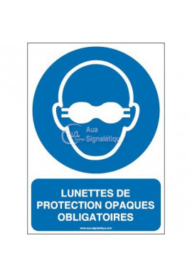 Lunettes de protection opaques obligatoires M007-AI Aluminium 3mm 150x210 mm