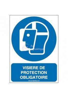 Visière de protection obligatoire M013-AI Aluminium 3mm 150x210 mm