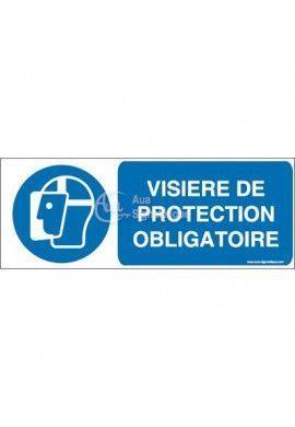Visière de protection obligatoire M013-B Aluminium 3mm 160x60 mm