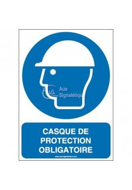 Casque de protection obligatoire M014-AI Aluminium 3mm 150x210 mm