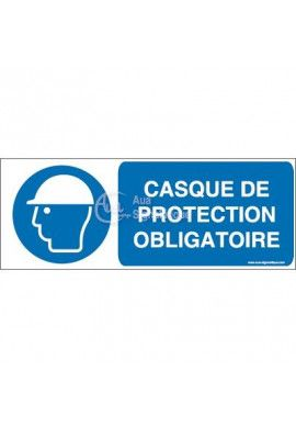 Casque de protection obligatoire M014-B Aluminium 3mm 160x60 mm