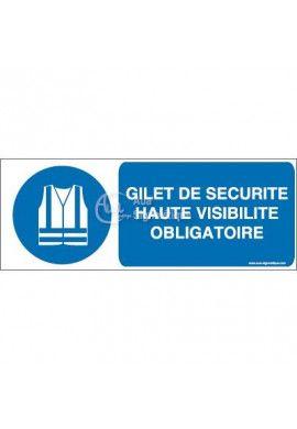 Gilet de sécurité haute visibilité obligatoire M015-B Aluminium 3mm 160x60 mm