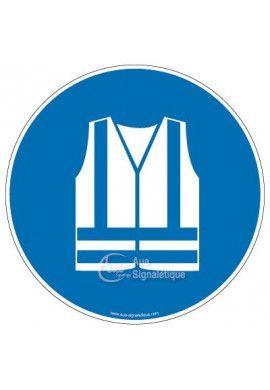 Gilet de sécurité haute visibilité obligatoire M015