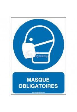 Masque obligatoire M016-AI Aluminium 3mm 150x210 mm