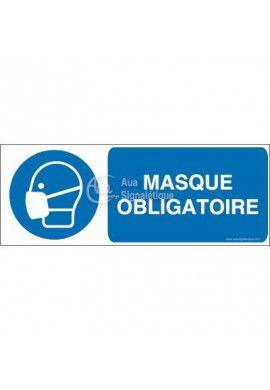 Masque obligatoire M016-B Aluminium 3mm 160x60 mm