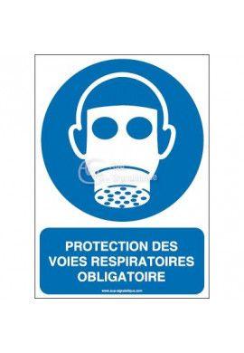 Protection des voies respiratoires obligatoire M017-AI Aluminium 3mm 150x210 mm