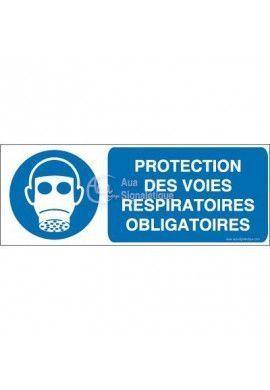 Protection des voies respiratoires obligatoire M017-B Aluminium 3mm 160x60 mm