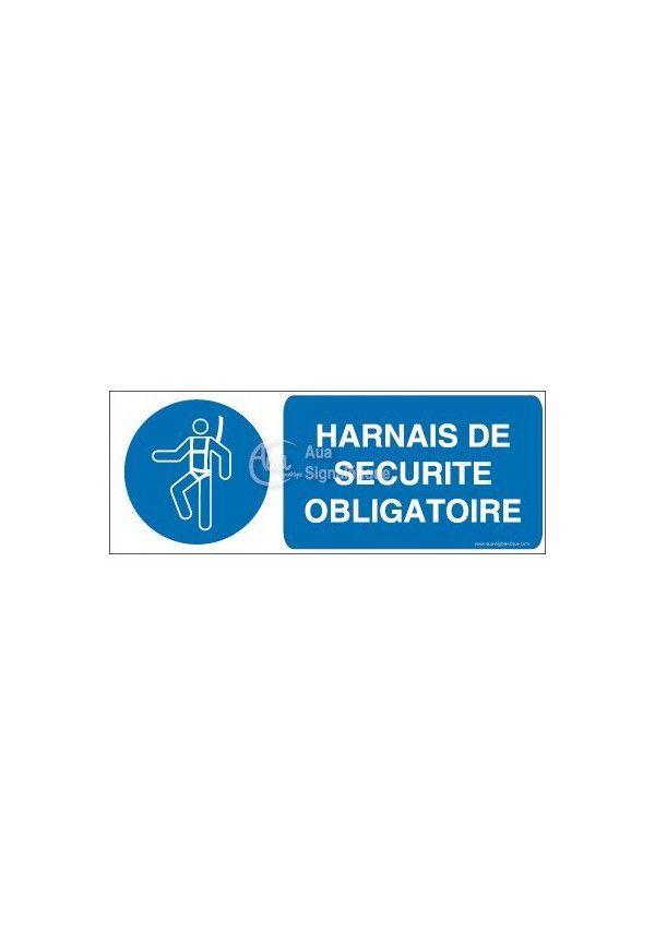 Harnais de sécurité obligatoire M018-B Aluminium 3mm 160x60 mm