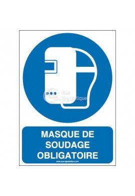 Masque de soudage obligatoire M019-AI Aluminium 3mm 150x210 mm