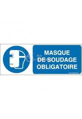Masque de soudage obligatoire M019-B Aluminium 3mm 160x60 mm