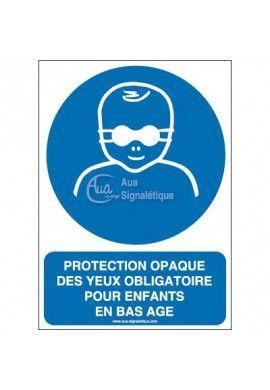 Protection opaque des yeux obligatoire pour enfants en bas âge M025-AI Aluminium 3mm 150x210 mm