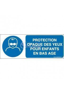 Protection opaque des yeux obligatoire pour enfants en bas âge M025-B Aluminium 3mm 160x60 mm