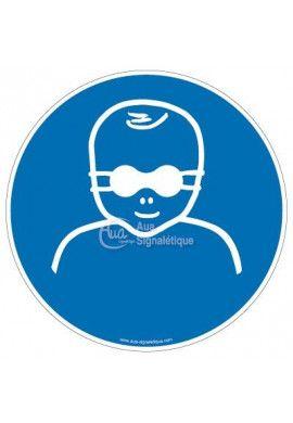 Protection opaque des yeux obligatoire pour enfants en bas âge M025 Aluminium 3mm Ø 130 mm