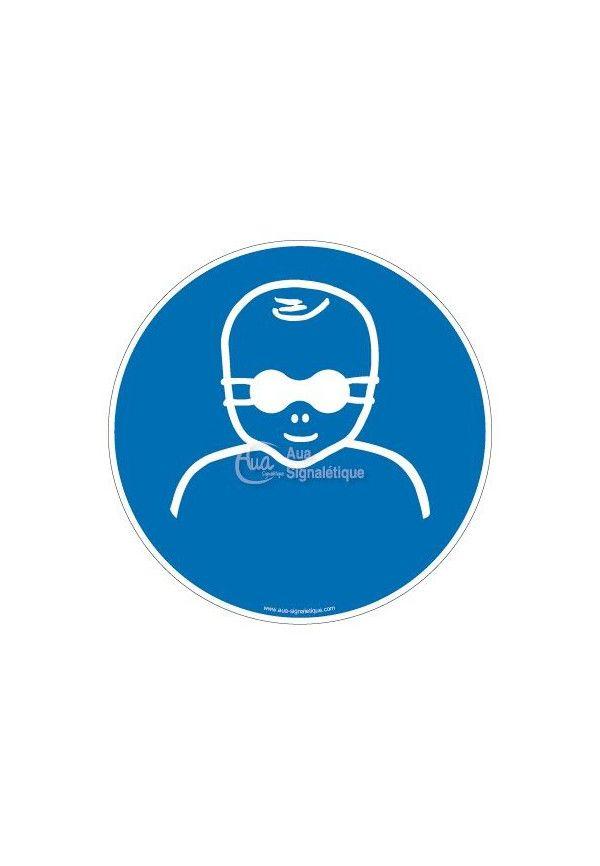 panneau iso 7010 protection opaque des yeux obligatoire pour enfants en bas ge m025. Black Bedroom Furniture Sets. Home Design Ideas