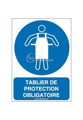 Tablier de protection obligatoire M026-AI Aluminium 3mm 150x210 mm