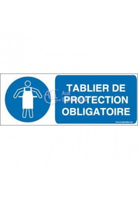 Tablier de protection obligatoire M026-B Aluminium 3mm 160x60 mm