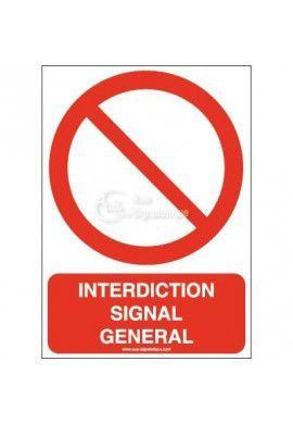 Interdiction, signal général P001-AI Aluminium 3mm 150x210 mm