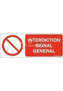 Interdiction, signal général P001-B Aluminium 3mm 160x60 mm