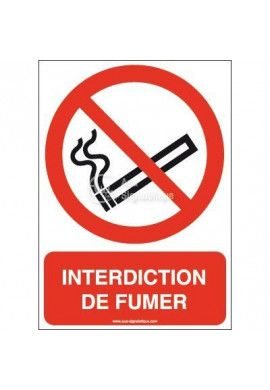 Interdiction de fumer P002-AI Aluminium 3mm 150x210 mm
