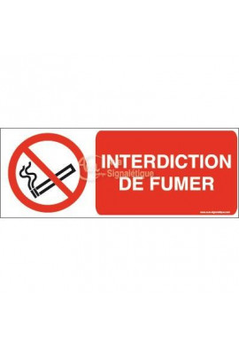 Interdiction de fumer P002-B Aluminium 3mm 160x60 mm