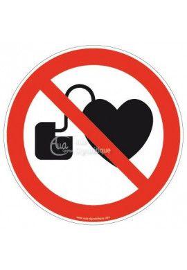 Entrée interdite aux porteurs d'un stimulateur cardiaque P007