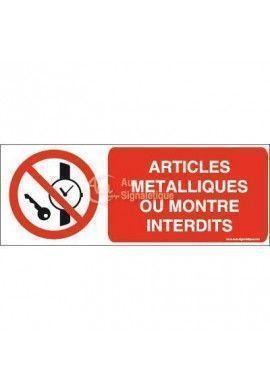 Articles métalliques ou montre interdits P008-B