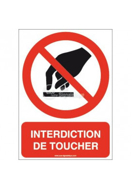 Interdiction de toucher P010-AI Aluminium 3mm 150x210 mm