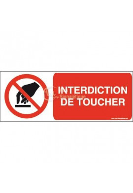 Interdiction de toucher P010-B