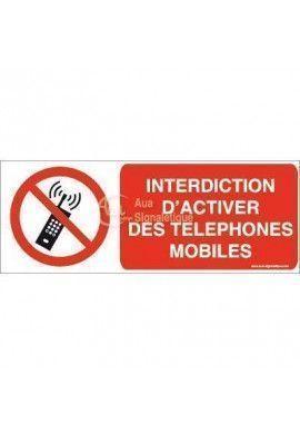 Interdiction d'activer des téléphones mobiles P013-B