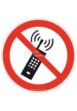 Interdiction d'activer des téléphones mobiles P013 Aluminium 3mm Ø 130 mm