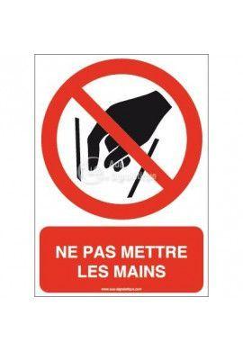 Ne pas mettre les mains P015-AI Aluminium 3mm 150x210 mm