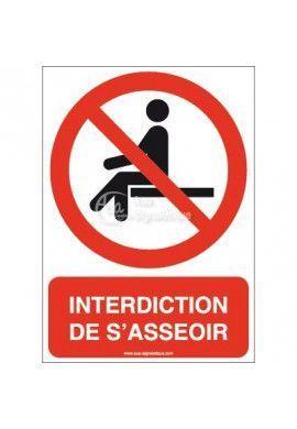 Interdiction de s'asseoir P018-AI